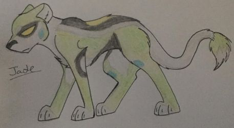 Jade the Green Lion by WolfLover595