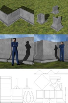 Futuristic Barrier Set 1 for DAZ Studio by jpb06