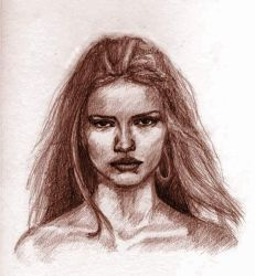 Adriana Lima Face Frontal by adez3d