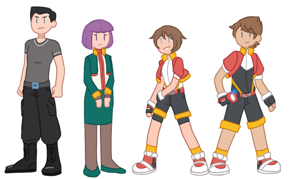 Pokemon Ranger Characters by Bast13