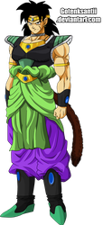 Old Broly And New Broly Fusion by GotenkSantii