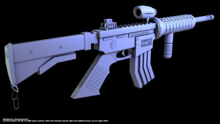 M4A1 Weapon by Ahmed-espaniA-Design