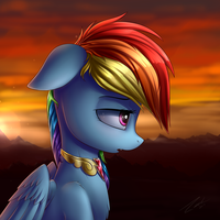 Lonely Sunset by DeltauraArt