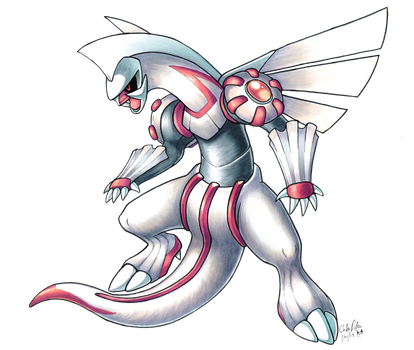 Palkia in copic markers by Chibi-Pika