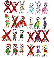 Christmas and Winter outfits adopts (open ) by IceCreamLink