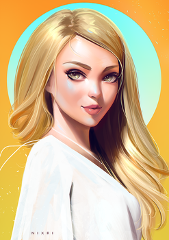 Stylized Portrait #18 by Nixri
