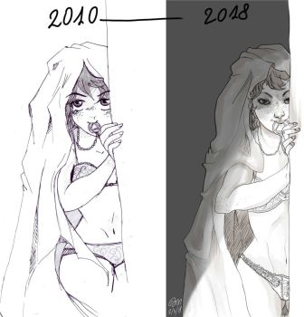2010-2018 draw this again by ToscaSam