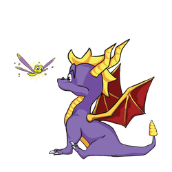 Spyro and Sparx by chevalfille