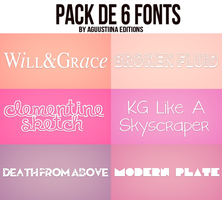 Pack de fonts #01 by AguustiinaEditions