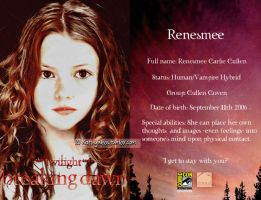 Renesmee Card by KathyWebs