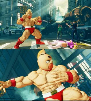 SFV Zangief as Kinnikuman by monkeygigabuster