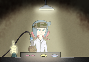 Constanze in her lab by ZeFrenchM