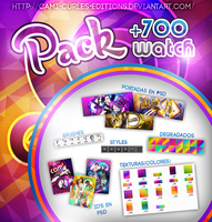 +PACK 700 Watchers (ESTOY RE HAPPY) by CAMI-CURLES-EDITIONS