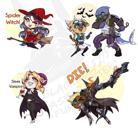 Halloween Chibis by IsadoraBelli