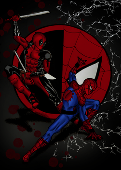 Spideypool (in color) by Nadia-AsViv
