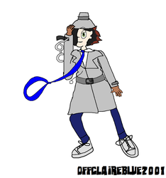 My idea for a redesigned Inspector Gadget by OffClaireBlue2001
