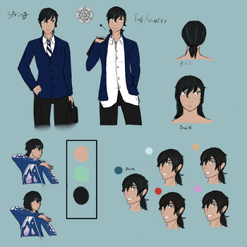 [Persona 5 OC] Luca Design Sketches by Plantress