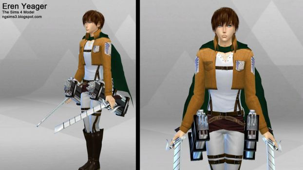 Eren Yeager - Sims4Model by ng9