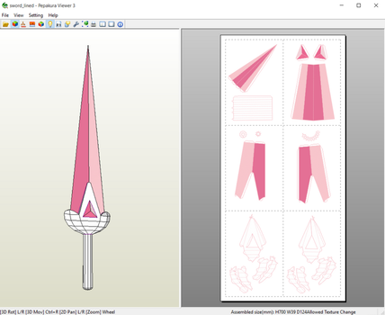 Bee and Puppycat - Bee's Sword Papercraft by aiko-chan14
