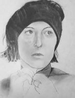 Second portrait drawing by ProfessorPicasso