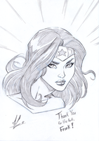 Wonder Woman Ko-fi sketch by Marc-F-Huizinga