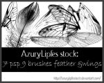 feather-wing brushes by AzurylipfesStock