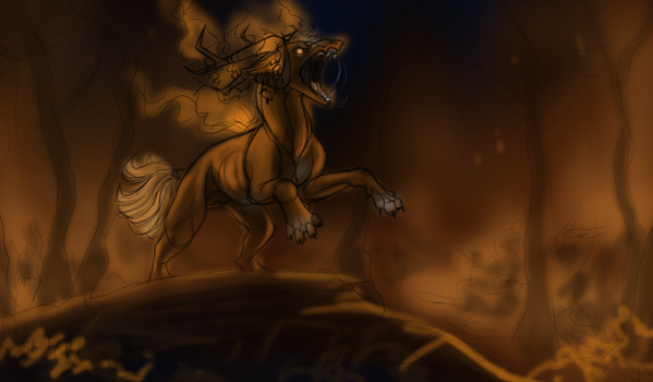 Of Fire-talu Paint by KJfromColors