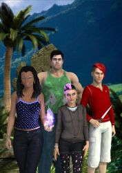 Natalie, Bryce, Riley and Gabe 2 by timberoo