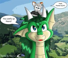 Mec and the Dragon Nythil by clashmecha