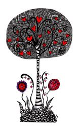 The Heart Tree by ZendoodleArt