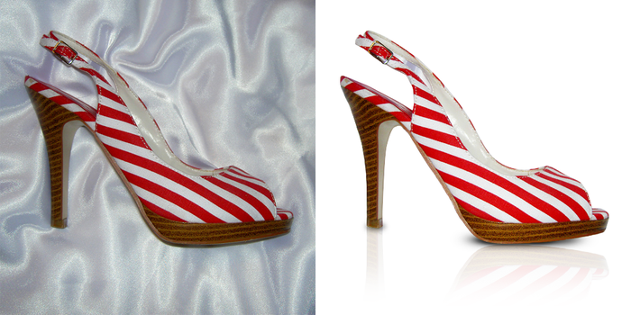 Shoe retouch by SatelliteAlice