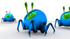 Green Crawler 3d by chaitanyak