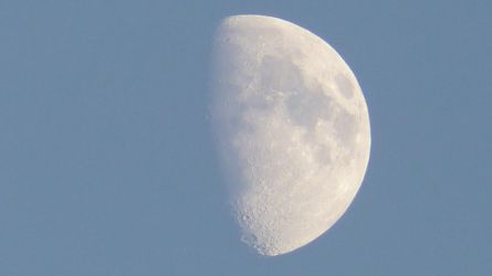 The moon in the early evening by MiffArte