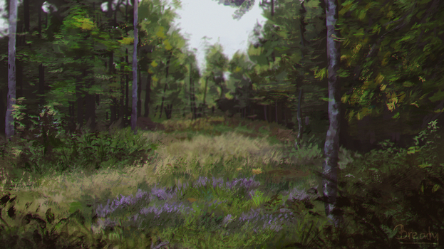 Yes hi I painted a forest lol by Breadyy