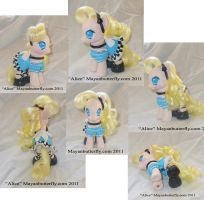 Alice in Wonderland G4 My Little Pony Multi Views by mayanbutterfly