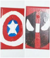 Captain America and Deadpool Lightswitch Covers by wolf-girl87