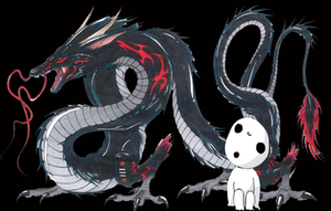 Dragon And Kodama by fanis01