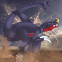 Garchomp and Gible by Mayayui