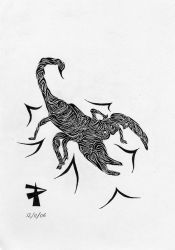 Tribal Scorpion by transcendence1
