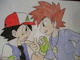 Ash and Gary by AJLeefan4life