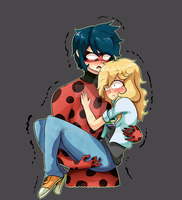 Ladybug and Adrien Genderbend by Bluechui