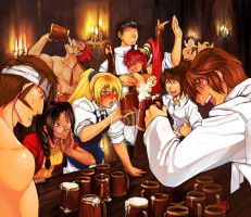My crew of drunks   XD by tiggerfactory