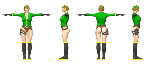 Orthographic Render View - Beta Kylie by KyleC98