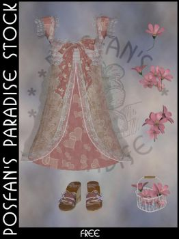 Spring Dress 005 with Accessories by poserfan-stock