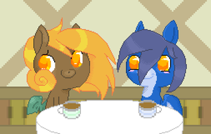 Cotton and Crash - Cafe Mischief by Blue-Cup