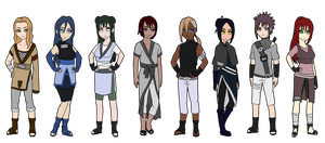 Naruto Mixed Village Adoptables 2 :SOLD OUT: by BlossomPeanuts