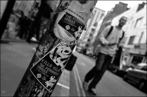 Post in Berwick Street by ash