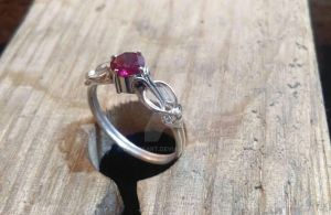 Silver elven ring by ElleysArt