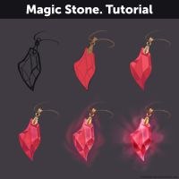 Magic Stone. Tutorial by Anastasia-berry
