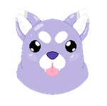 Purple dog icon (Commission) by TropicaIDeer
